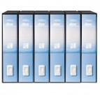 Registratore Dox 2 - dorso 8 cm - protocollo 23x34 cm - azzurro - Esselte