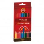 Studio Acquarello - Ø mina 3,8mm - colori assortiti - Koh-I-Noor - Astuccio 24 pastelli colorati