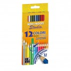 Matite colorate Studio - Ø mina 2,8mm - colori assortiti Koh.I.Noor - Astuccio 12 pastelli colorati