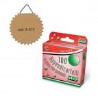 Appendicartelli adesivi - 2 cm - tela gommata - avana - Lebez - conf. 100 pezzi