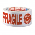 Nastro adesivo con scritta FRAGILE e SIGILLO DI SICUREZZA - PPL - 50 mm x 66 mt - Tesa