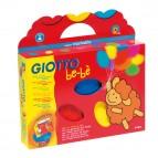Supercolori a dita - 100ml  - rosso, blu, giallo - Giotto bebe - 3 barattolini