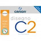 Album disegno Canson x2 - Ruvido - 24x33 cm - 125 g/mq - 20 ff - 90033/100500446