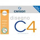 Album disegno Canson x4 - Ruvido - 33x48cm - 224 g/mq - 20 - 90043/100500452