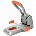 Perforatore HDC150 - massimo 150 fogli - 2 fori - passo 8 cm - grigio/arancio - Rapid