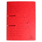 Cartelle 3 lembi Punchy® Exacompta - 230 g/mq - 24x32 cm - rosso - 447005E (conf.25)