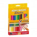 Pastelli STUDIO Koh-i-noor - 2,9 mm -da 3 anni in poi - DH3336 (conf.36)