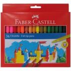Pennarelli FIESTA STANDARD Faber Castell - 0,7 mm - 6+ - 554236 (conf.36)