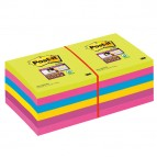 Blocco foglietti Post It Super Sticky - colori Ultra - 76 x 76mm - 90 fogli - Post It