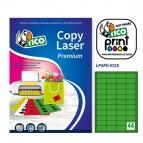 Etichetta adesiva LP4F - permanente - 47,5x25,5 mm - 44 etichette per foglio - verde fluo - Tico - conf. 70 fogli A4
