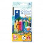 Noris aquarell - pastelli colorati - Staedtler  - astuccio 12 colori