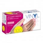 Guanti in vinile Icoguanti - S - bianco trasparente - EVL VINYL S (conf.100)