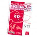 Ricambi forati rinforzati Pignaric - A4 - 1 rigo - 40 fogli - 80gr - Pigna