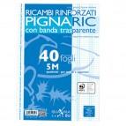 Ricambi forati rinforzati Pignaric - A4 - quadretto 5mm - 40 fogli - 80gr - Pigna