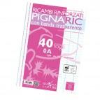 Ricambi forati rinforzati Pignaric - A4 - rigo di 1a - 40 fogli - 80gr - Pigna