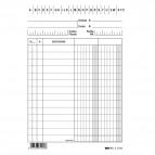 Schede in cartoncino 2 colonne - 15x10,5 cm verticale - Edipro - conf. 100 pezzi