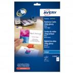 Biglietti da visita - 85 x 54 mm - 250 gr - effetto glossy - bianco - Avery - conf. 25 fogli da 8 biglietti