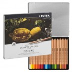 Pastelli Aquarell Rembrandt - 3,7 mm - colori assortiti - Lyra - scatola metallo 24 pezzi