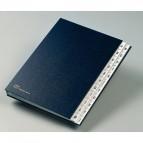 Classificatore alfabetico A/Z - 640D - 24x34 cm - blu - Fraschini