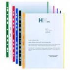 Buste forate con banda colorata - Linear - buccia - 21x29,7 cm - verde - Favorit - conf. 10 pezzi
