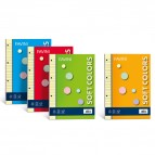 Ricambi forati Soft Colors - A4 - quadretto 4mm - 100 fogli - 80gr - 5 colori assortiti - Favini