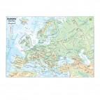 Carta geografica Europa - scolastica - plastificata - 297x420 mm - Belletti