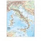 Carta geografica Italia - scolastica - plastificata - 297x420 mm - Belletti