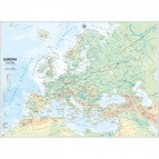 Carta geografica Europa - scolastica - murale - Belletti