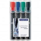 Marcatore Lumocolor® Permanent Staedtler - assortiti - a scalpello - 2-5 mm - 350 WP4 (conf.4)