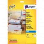 Etichette bianche QuickDry per indirizzi Avery - 63,5x38,1 mm - 21 et/ff - J8160-25 (conf.25)