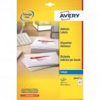 Etichette bianche QuickDry per indirizzi Avery - 99,1x38,1 mm - 14 et/ff - J8163-25 (conf.25)