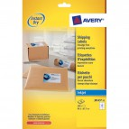 Etichette bianche QuickDry per indirizzi Avery - 99,1x67,7 mm - 8 et/ff - J8165-25 (conf.25)