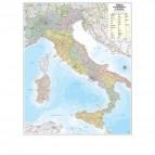 Carta geografica Italia amministrativa e stradale - murale - 97x122 cm - Belletti