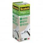 Nastro adesivo Scotch® Magic™ 900 - invisibile - ecologico - 19 mm x 33 mt - trasparente - Scotch® - Value Pack 9 rotoli