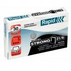 Punti Rapid Super Strong - 21/6 (6/6) - acciaio zincato - metallo - Rapid - conf. 1000 pezzi