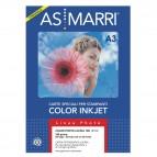 Carta fotografica Inkjet - A3 - 180 gr - effetto lucido - bianco - As Marri - conf. 50 fogli