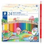 Pastelli colorati Noris cancellabile 144 50 - Staedtler - astuccio 24 matite