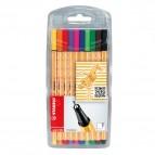 Fineliner Point 88 -  colori assortiti - Stabilo - astuccio 10 colori