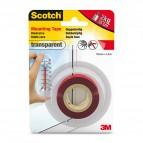 Nastro biadesivo Scotch® Extra Forte - trasparente - 19 mm x 1.5 m