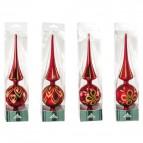 Puntali per albero di natale Impression - rosso - 25508