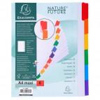 Divisori in cartoncino Nature Future tasti neutri Exacompta - A4 maxi - 6 - 4306E