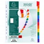Divisori in cartoncino Nature Future tasti neutri Exacompta - A4 maxi - 12 - 4312E