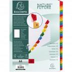 Divisori in cartoncino A4 con tasti stampati Nature Future Exacompta - A4 - 1-31 - 1131E