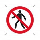 Cartelli segnaletici - vietato passaggio pedoni - 270x270 mm - E1304X