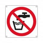 Cartelli segnaletici - vietato bere acqua dal rubinetto - 270x270 mm - E1303X