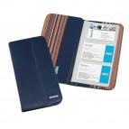 Portabiglietti da visita Professional - similpelle - blu - 12,5x23,5 cm - Niji