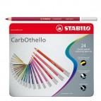 Stabilo Carb0thello Carboncino - tratto 4,40mm - scatola in metallo - Stabilo - Astuccio 24 colori