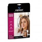 Carta fotografica Ultimate - A4 - 270 gr - effetto opaco - bianco - Canson - conf. 20 fogli