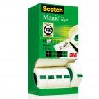 Nastro adesivo Scotch® Magic™ 810 - invisibile - permanente - 19 mm x 33 mt - trasparente - Scotch® - Multi Pack 12+2 rotoli