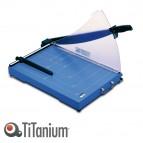 Taglierina a leva 3025 - A3 - 360x535x445 mm - 448 mm - capacità taglio 20 fg - con blocca lama - blu - Titanium